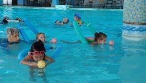 Indoor swimming lesson in Hanoi